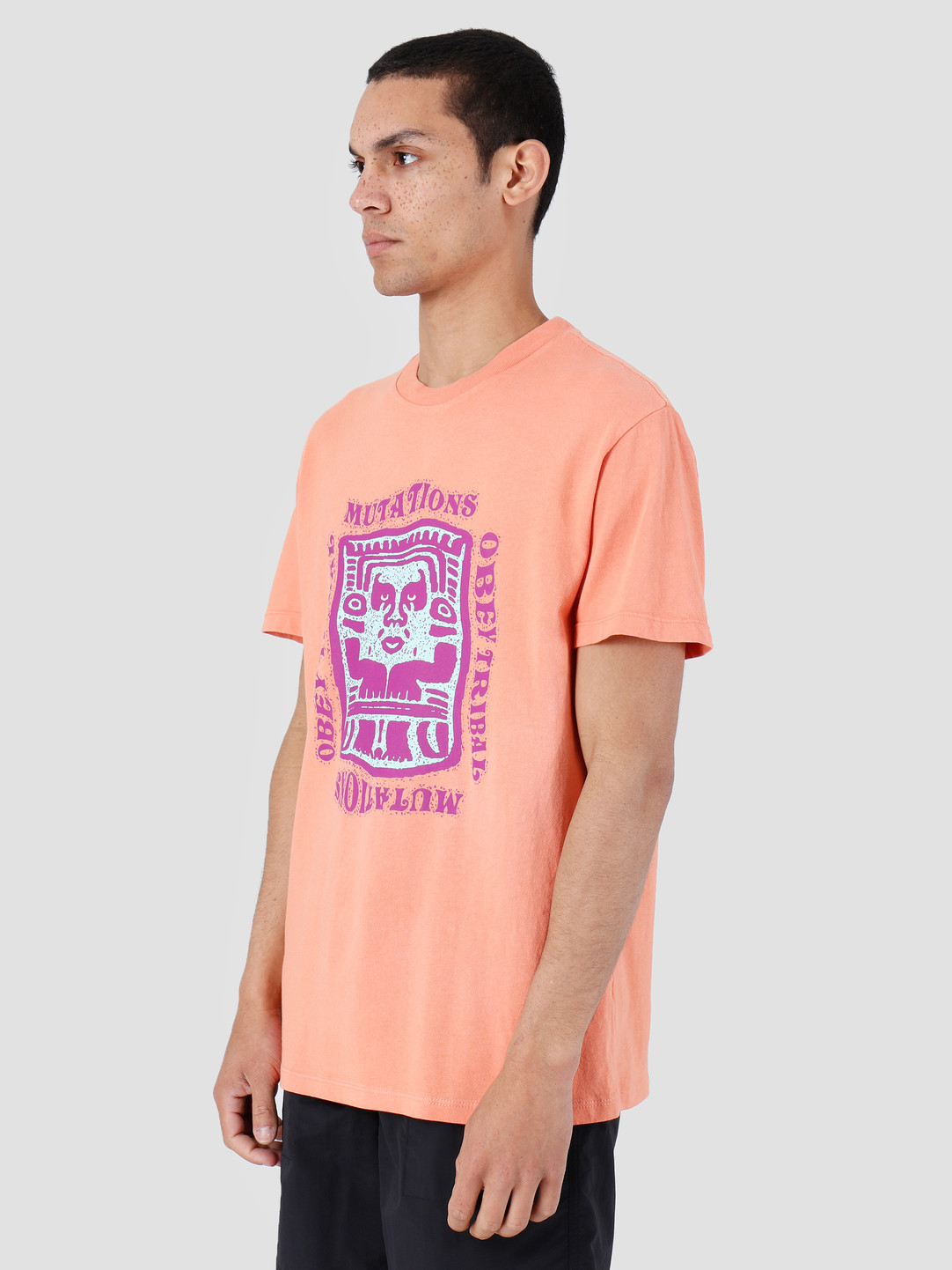 Obey Obey Basic Pigment T-Shirt Dusty Raw Terracotta 166721897-TER