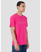 Obey Obey Novel Pigment T-Shirt Dusty Psychedelic Pink 166721578-PIN