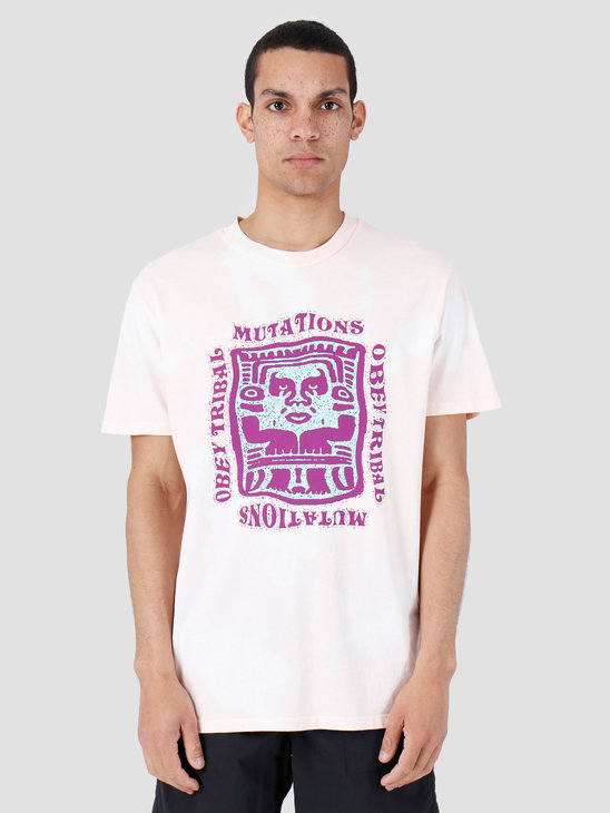 Obey Mutations Bleach T-Shirt Light Rose 166741897-LRO