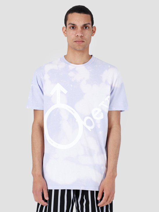 Obey Basic Bleach Tie Dye T-Shirt Lavender 166741972-LAV
