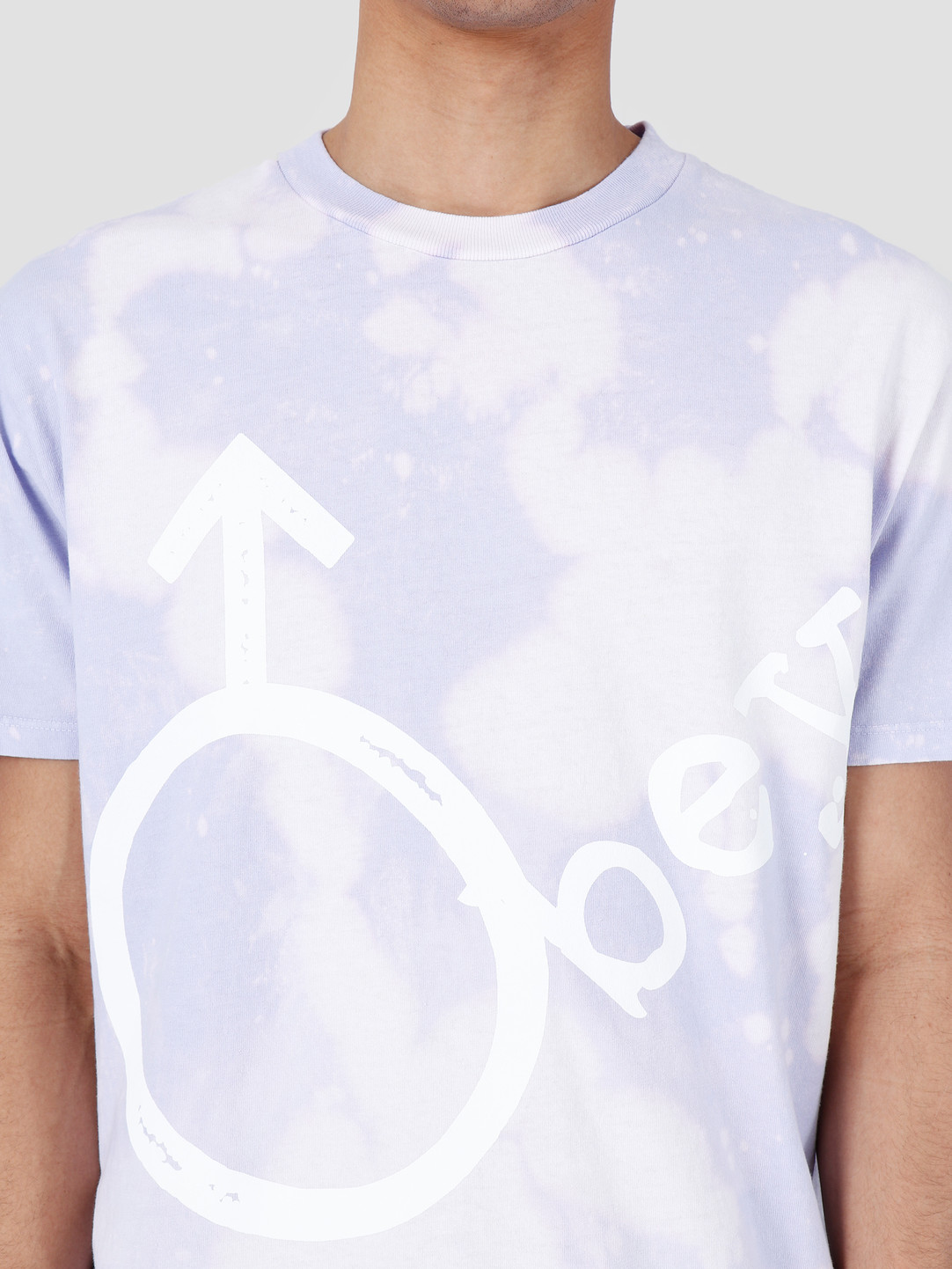Obey Obey Chrome Bleach T-Shirt Lavender 166741972-LAV