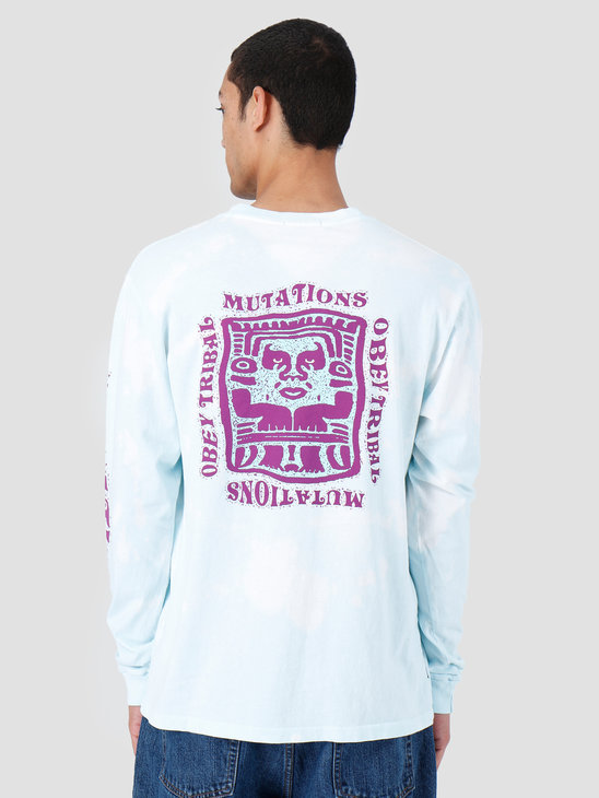 Obey Mutations Bleach Longsleeve Powder Blue 166751897-PBU