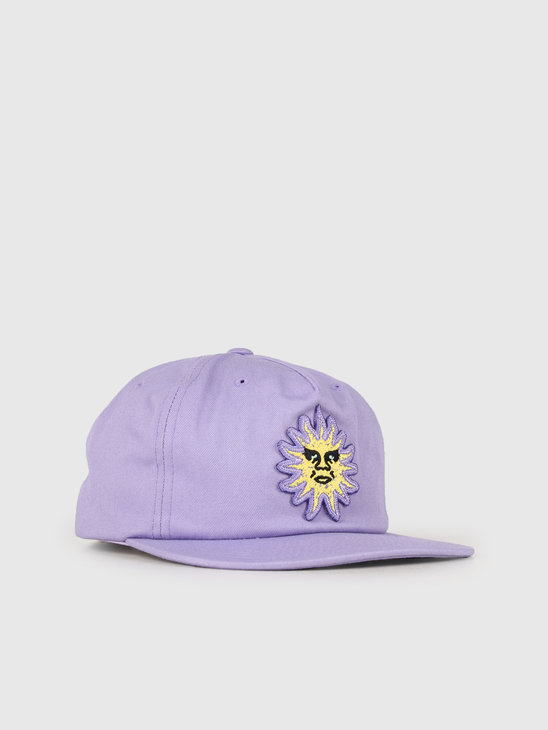 Obey Rising Sun Snapback Lavender 100570096-LAV