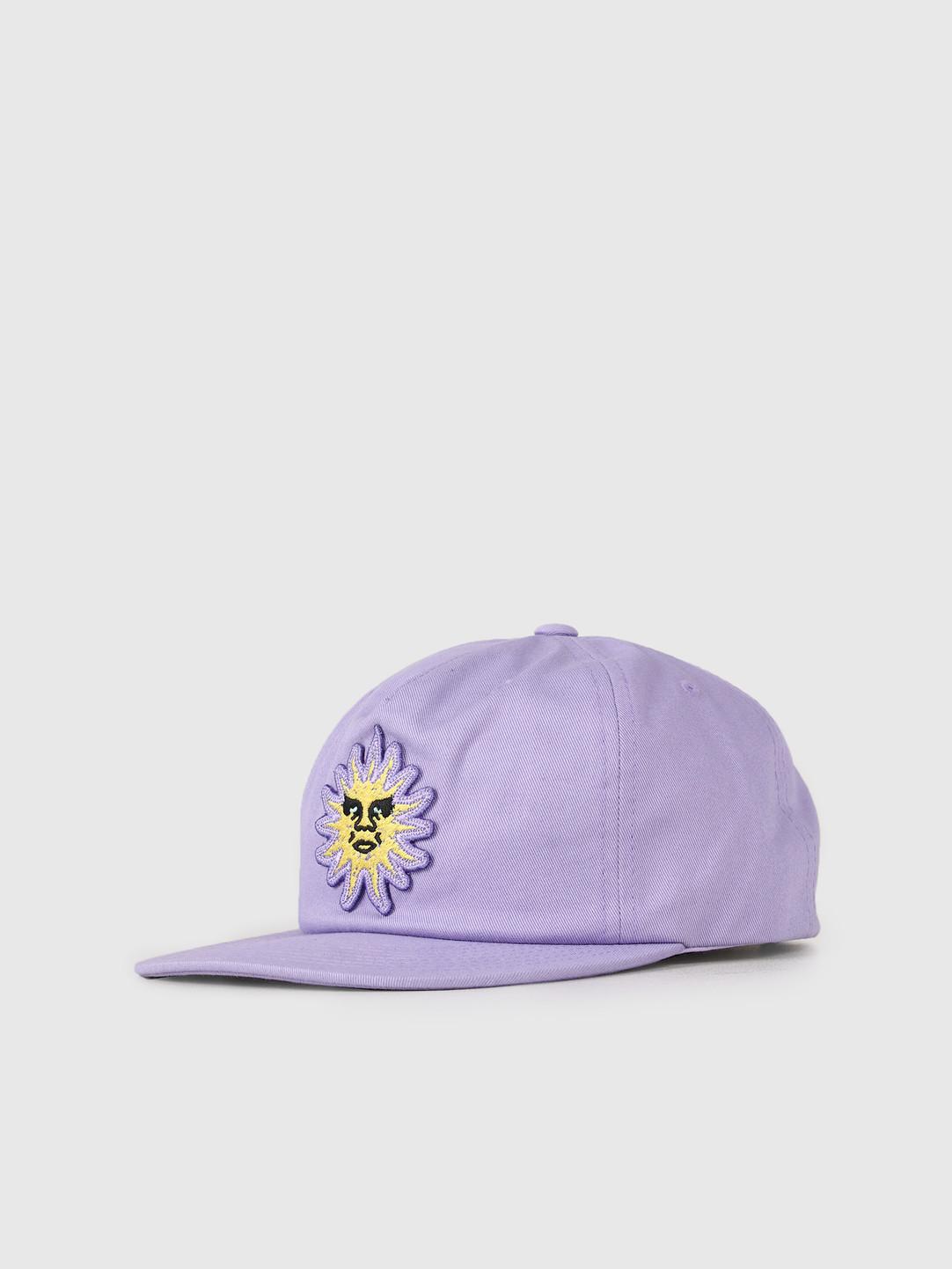 Obey Obey Rising Sun Snapback Lavender 100570096-LAV