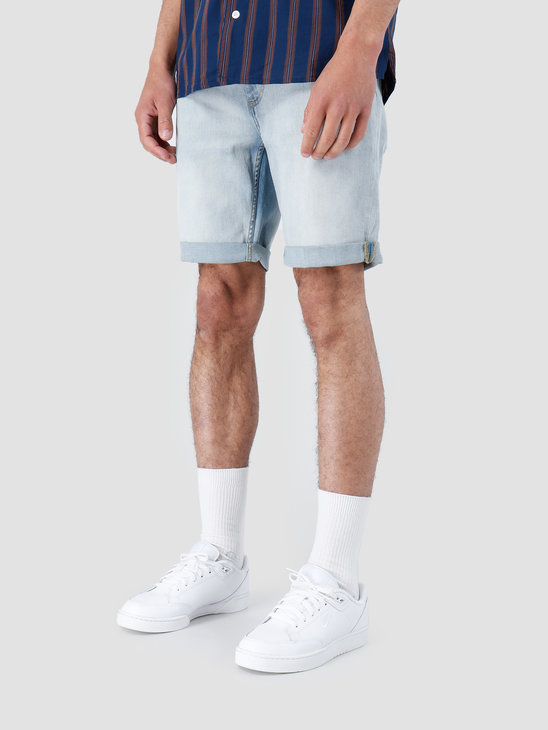 RVLT Bleached Wash Shorts Light Blue 5407
