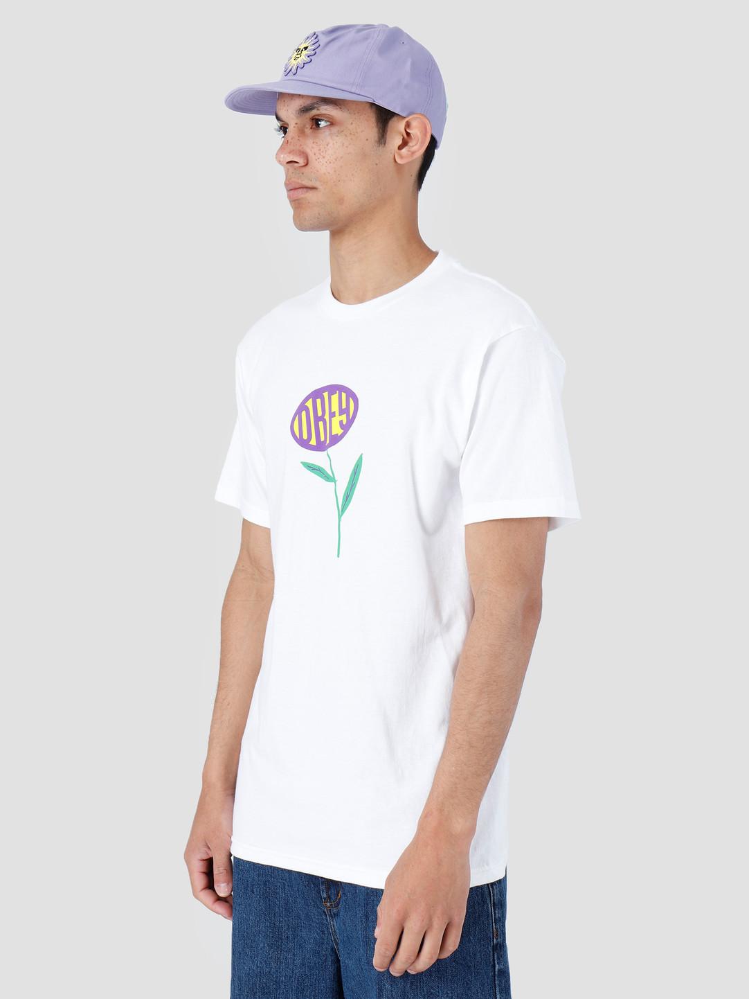 Obey Obey Lily Basic T-Shirt White 163081980-WHT