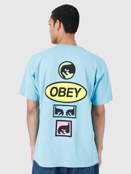 Obey Stacked Heavy Weight Classic Box T-Shirt Pool 166911964-POL
