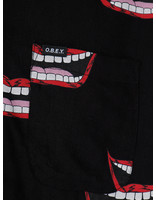 Obey Obey Lips Woven T-Shirts Black Multi 181210246-BKM