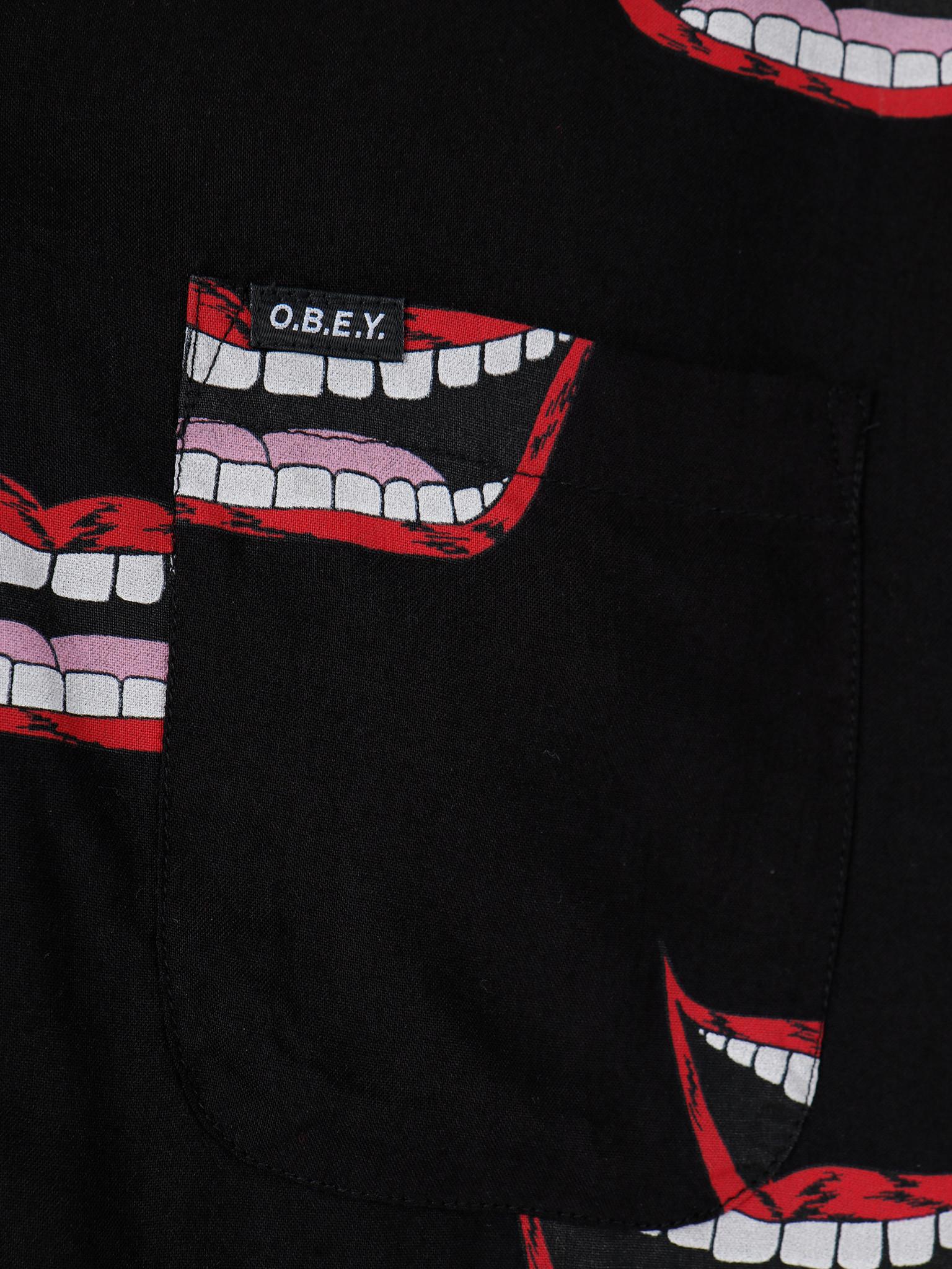 Obey Obey Shortsleeve Woven Black Multi 181210246-BKM