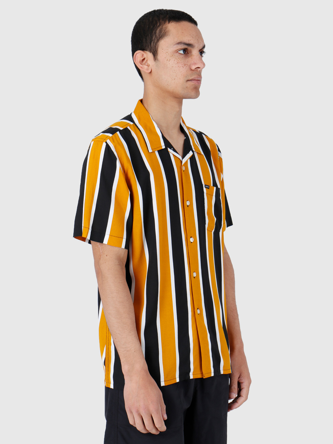 Obey Obey Shortsleeve Woven Mineral Yellow Multi 181210245-MRL
