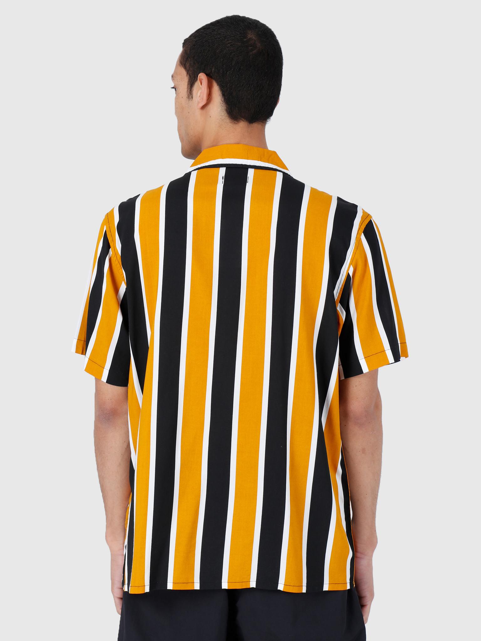 Obey Obey Sutter Stripe Woven T-Shirt Mineral Yellow Multi 181210245-MRL