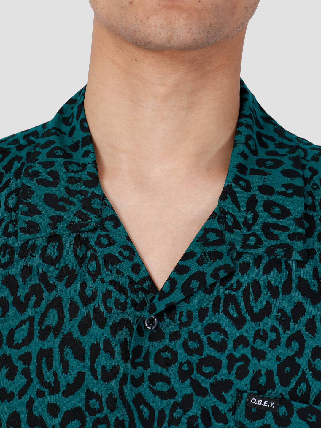 Obey Obey Shortsleeve Woven Blue Green Multi 181210247-GMU
