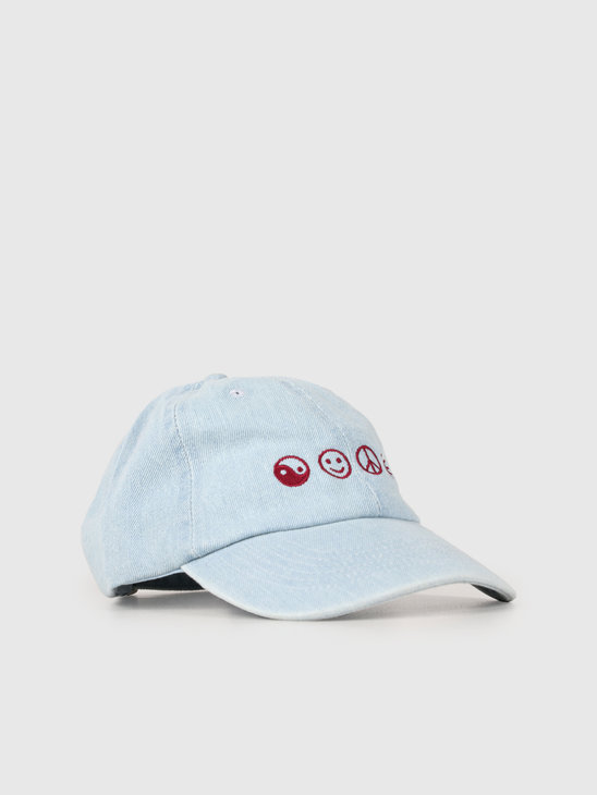 The Quiet Life World Peace Dad Hat Denim 19SPD2-2203-DEN-OS