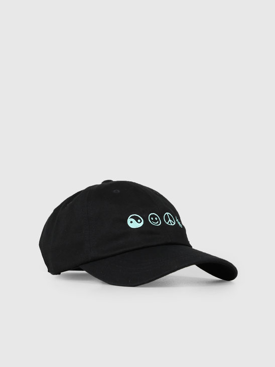 The Quiet Life World Peace Dad Hat Black 19SPD2-2202-BLK-OS