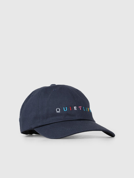 The Quiet Life Rainbow Dad Hat Navy 19SPD2-2201-NAV-OS