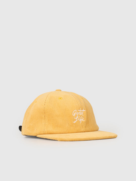 The Quiet Life Beach Cord Polo Hat Gold 19SPD2-2188-GLD-OS