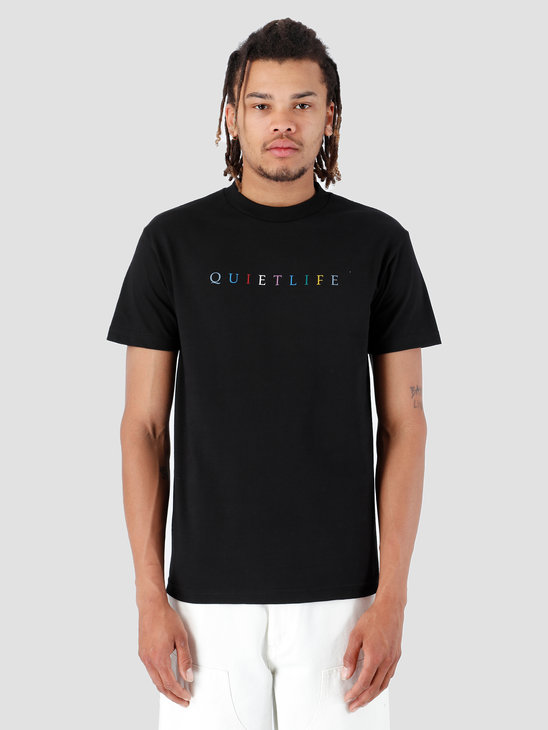 The Quiet Life Rainbow T-Shirt Black 19SPD2-2152-BLK