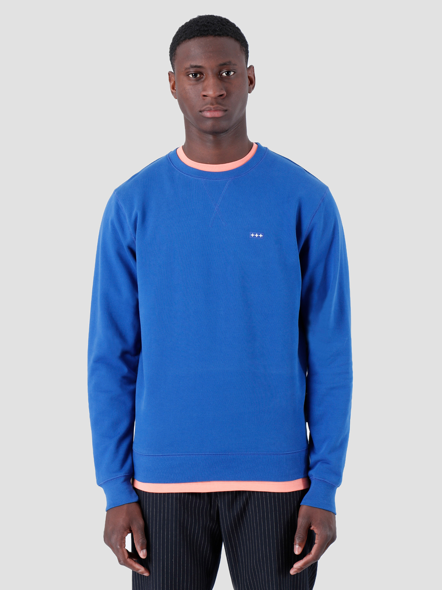 Quality Blanks Quality Blanks QB94 Patch Logo Crewneck Royal Blue