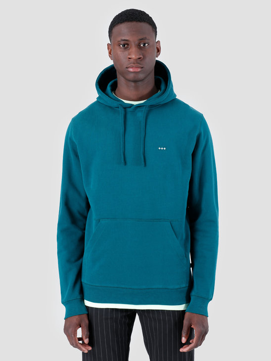Quality Blanks QB93 Patch Logo Hoodie Dark Teal