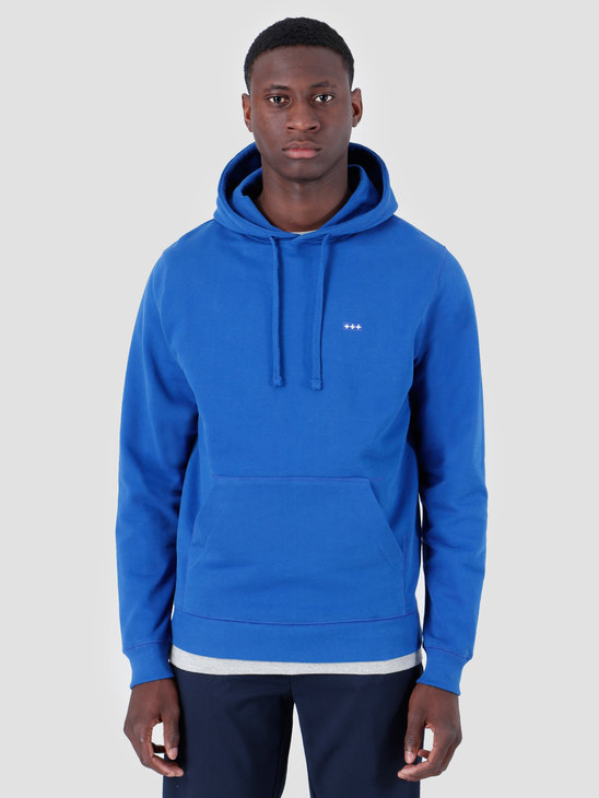 Quality Blanks QB93 Patch Logo Hoodie Royal Blue