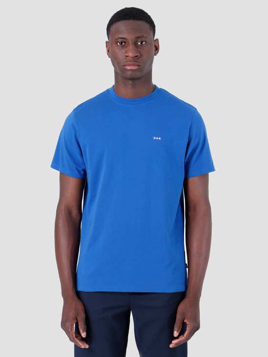 Quality Blanks QB03 Patch Logo T-shirt Royal Blue