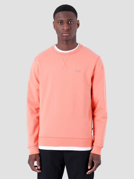 Quality Blanks QB94 Patch Logo Crewneck Salmon