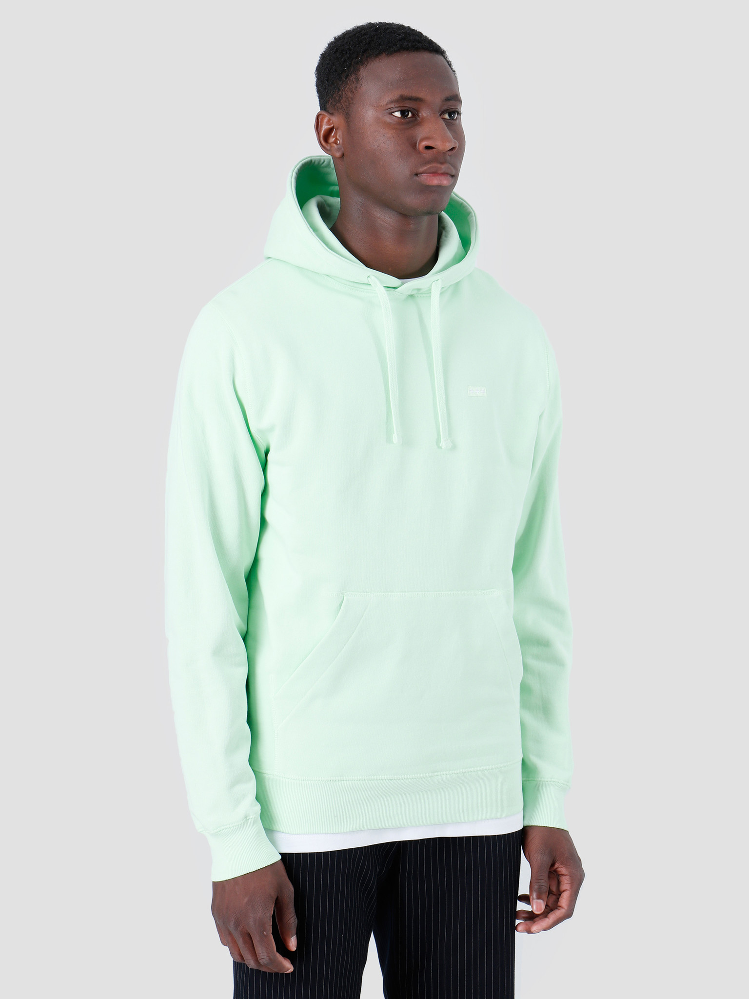 Quality Blanks Quality Blanks QB93 Patch Logo Hoodie Fresh Green