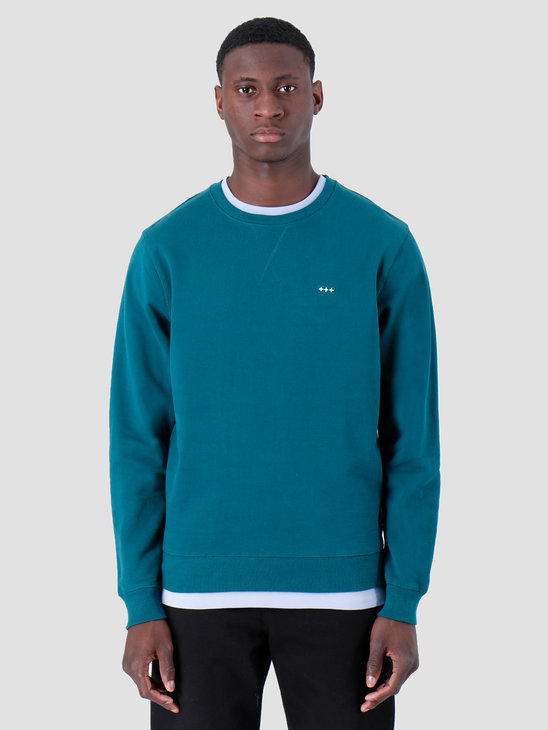 Quality Blanks QB94 Patch Logo Crewneck Dark Teal