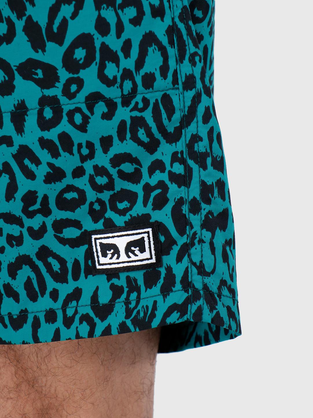 Obey Obey Walkshort Leopard Blue Green 172120046-GRN