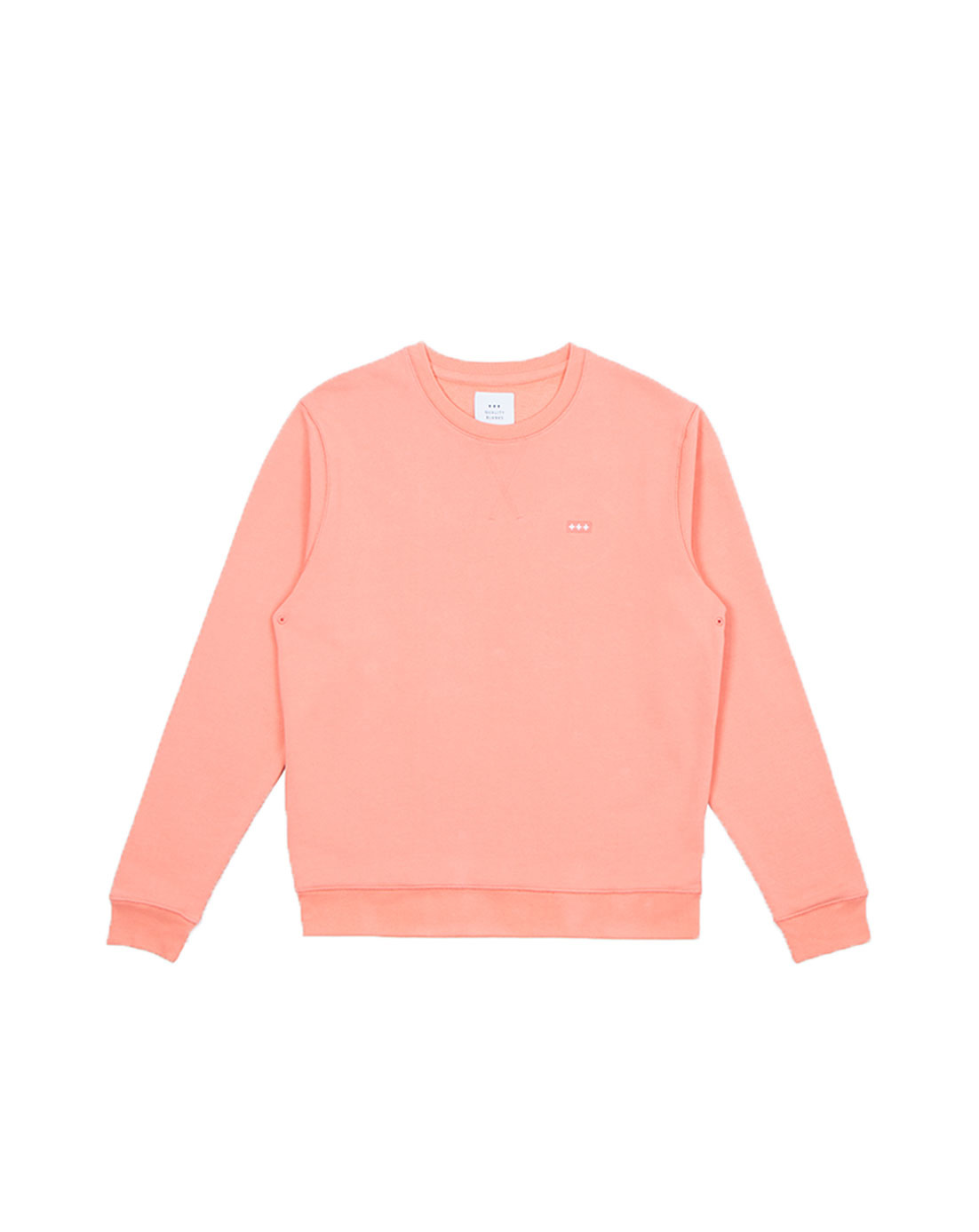 Quality Blanks QB94 Patch Logo Crewneck Washed Orange