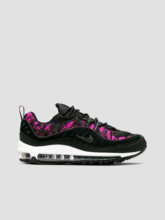 a842259adf085 Nike Air Max 98 Prm Black Black Hyper Pink CI2672-001 ...