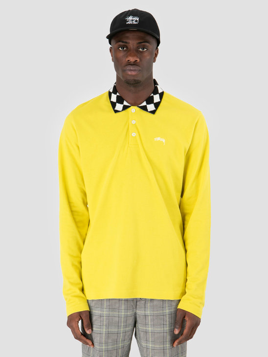 Stussy Louie Longsleeve Polo Lemon 0408