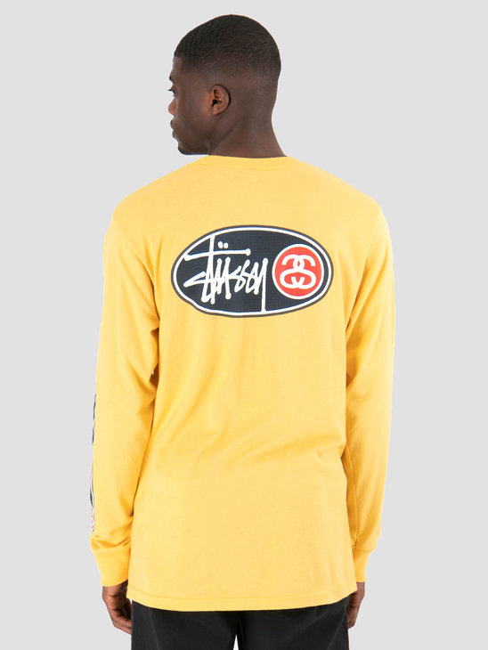 Stussy Oval Grid Longsleeve  Orange 0602