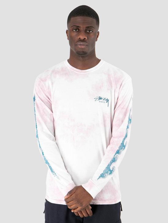 Stussy Waves Td Longsleeve  Pink 0604