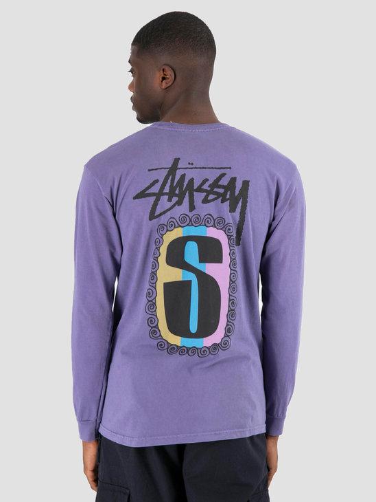 Stussy S Frame Pig Dyed Longsleeve Purple 0809