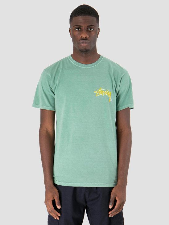 Stussy Stock C Pig Dyed T-Shirt Sage 1059