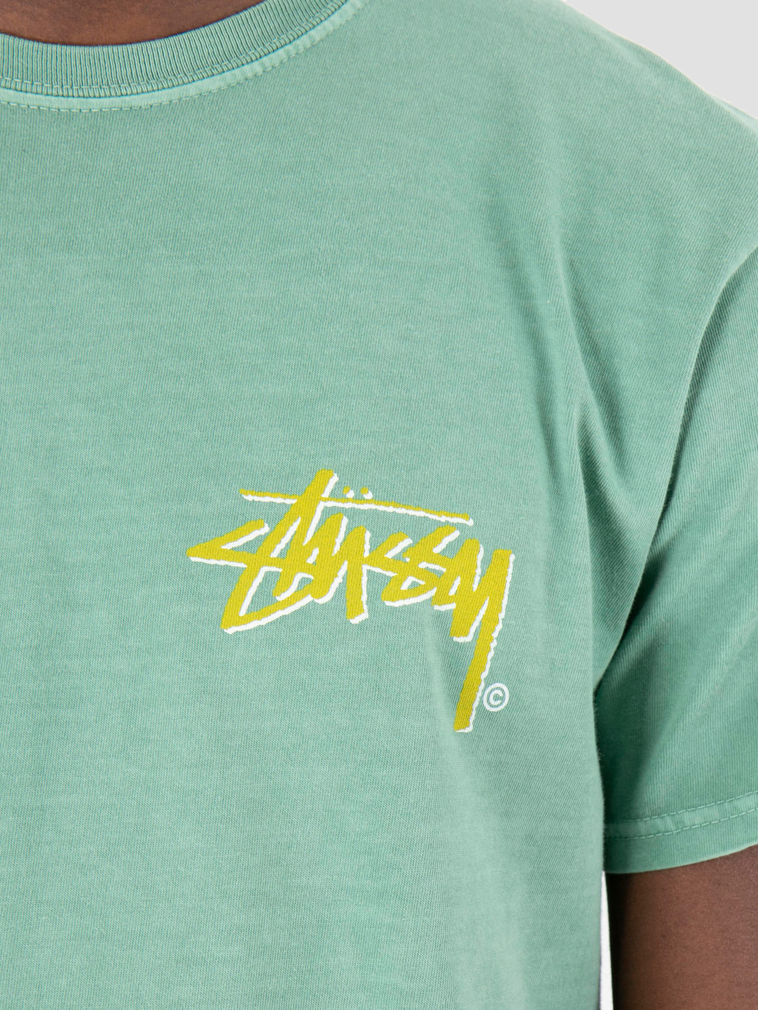 Stussy Stussy Stock C Pig Dyed T-Shirt Sage 1059
