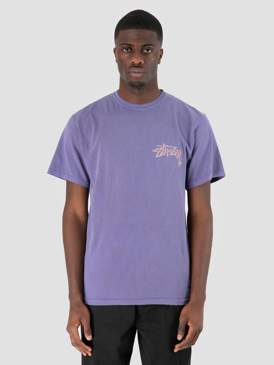 Stussy Stock C Pig Dyed T-Shirt Purple 0809