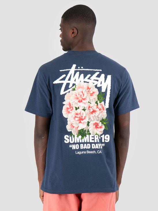 Stussy Carnation T-Shirt Navy 0806