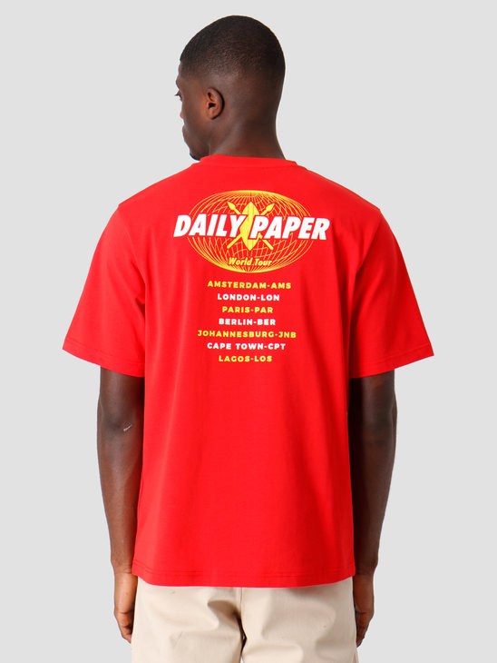 Daily Paper World Tour T-shirt Red 19SR1TS02-03