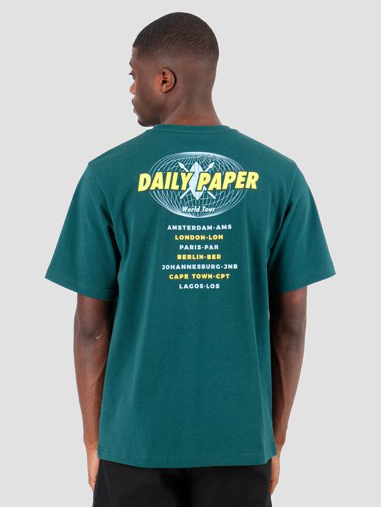 Daily Paper World Tour T-shirt Dark Green 19SR1TS02-02