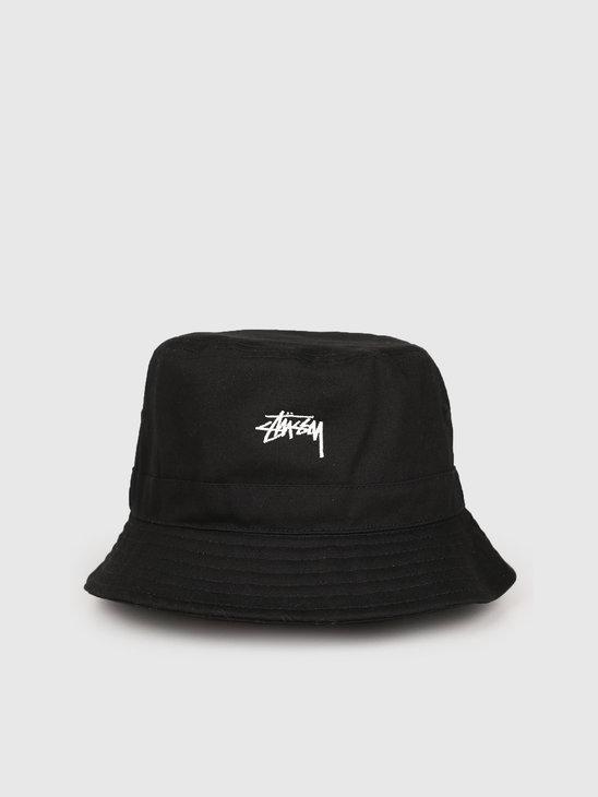 Stussy Stock Band Bucket Hat Black 0001