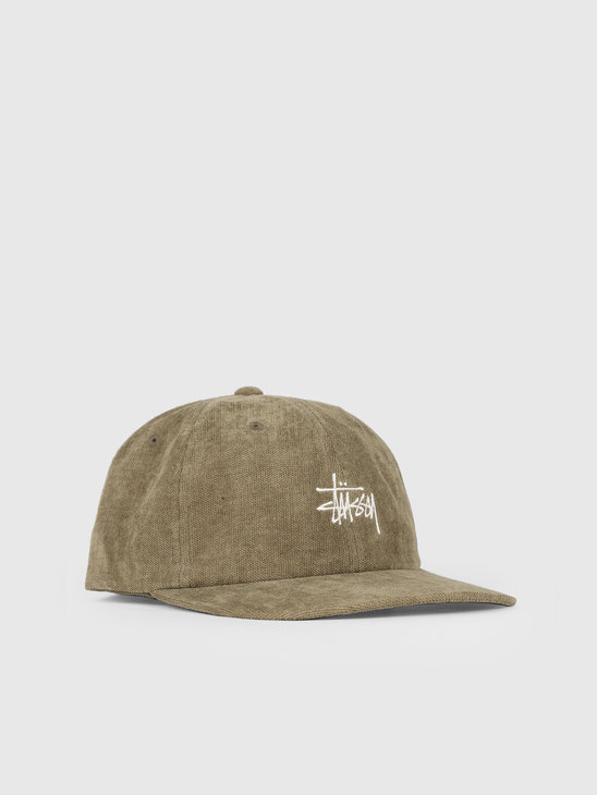 Stussy No Wale Cord Low Pro Cap Olive 0403