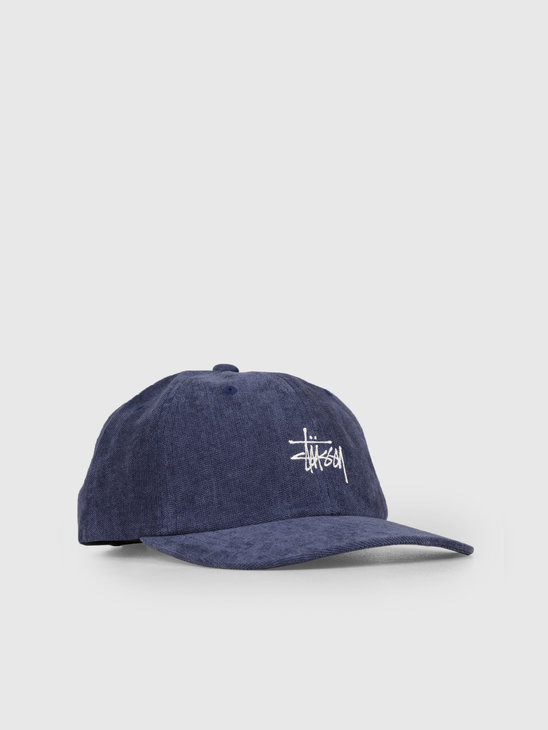 Stussy No Wale Cord Low Pro Cap Navy 0806