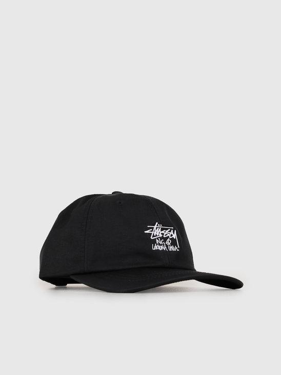 Stussy Laguna Low Pro Cap Black 0001