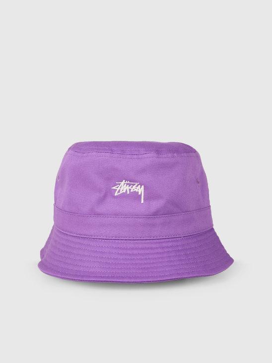 Stussy Stock Band Bucket Hat Lavendar 0820