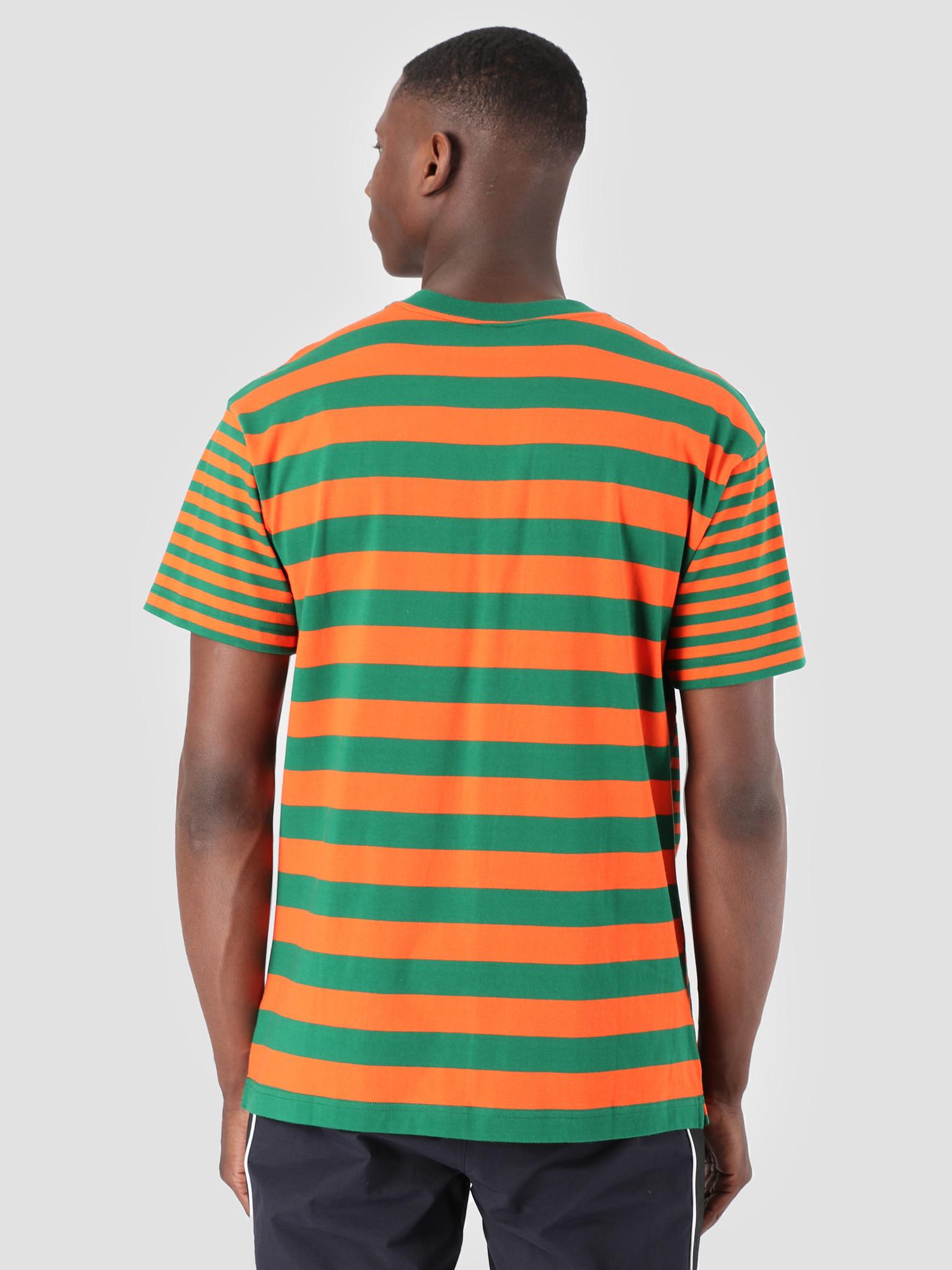 Carhartt WIP Carhartt WIP Barkley Pocket T-Shirt Stripe Barkley Stripe, Dragon Clivia I026364