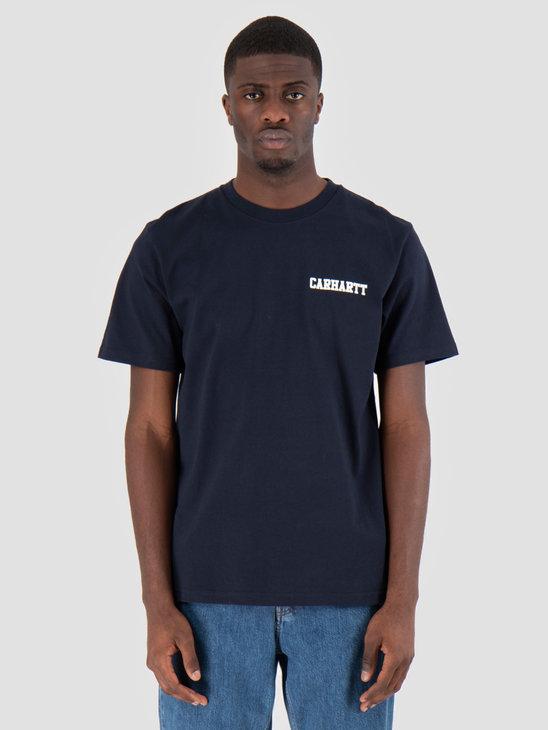 Carhartt WIP College Script T-Shirt Dark Navy I024806