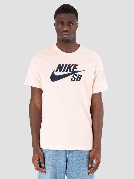 Nike SB Dry T-Shirt Defect Logo Washed Coral Obsidian AR209-664