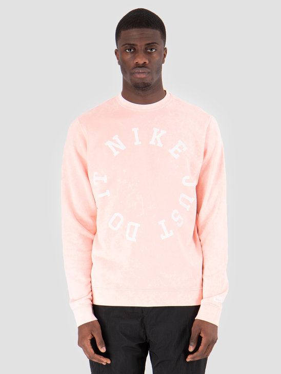 Nike Nsw Ce Crewneck Ft Wash Bleached Coral Summit White AR2929-697